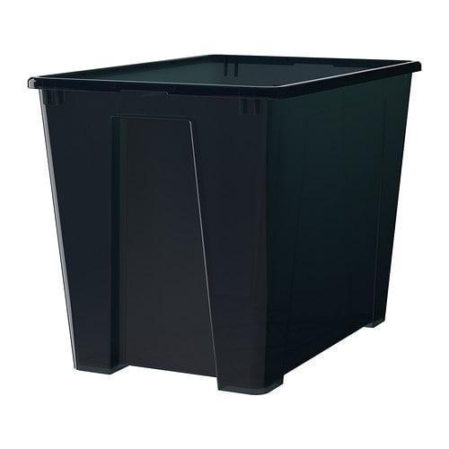 САМЛА Контейнер - черный, 57x39x42 см/65 л