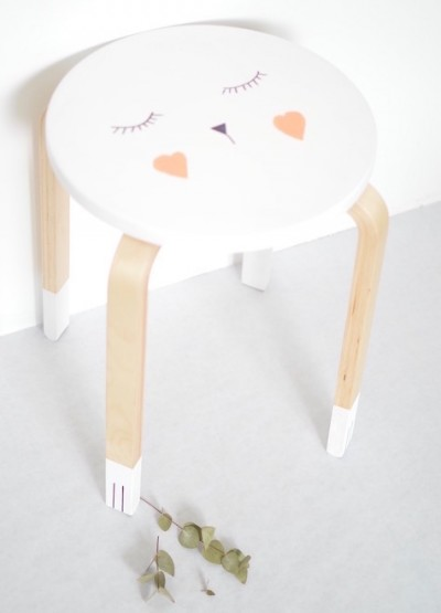 """Cat"" Frost stool for a child's room"