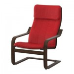 Poeng Armchair - Alme Classic Red, Brown