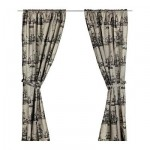KNUTARV Curtains with grip, 1 couple