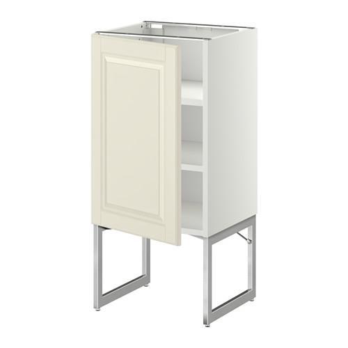 МЕТОД Напольный шкаф с полками - 40x37x60 см, Будбин белый с оттенком, белый