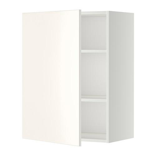 МЕТОД Шкаф навесной с полкой - 60x80 см, Веддинге белый, белый