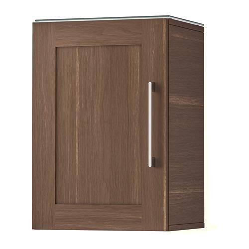 GODMORGON Wall cabinet with 1 door - walnut effect
