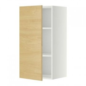 METHOD Wardrobe with hinged shelf - 40x80 cm Tingsrid birch, white