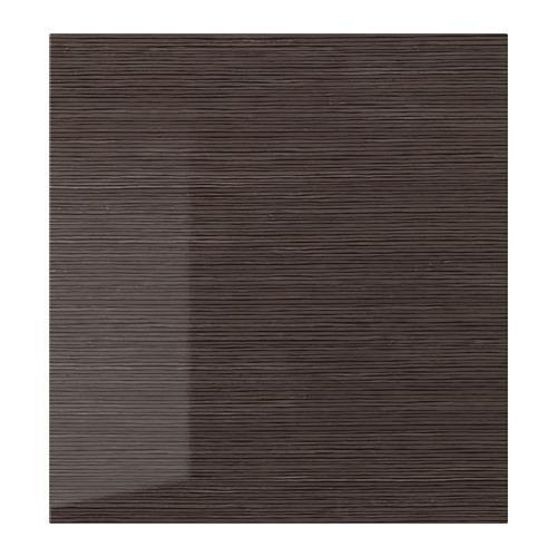 СЕЛЬСВИКЕН Дверь - глянцевый с рисунком коричневый