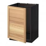 МЕТОД Напольный шкаф для раковины - под дерево черный, Торхэмн естественный ясень
