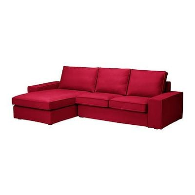 Civic 2-seat sofa and chaise longue - Dansbu classic red