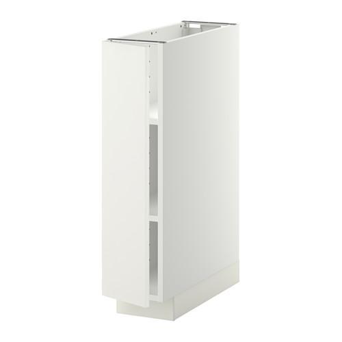 МЕТОД Напольный шкаф с полками - 20x60 см, Хэггеби белый, белый