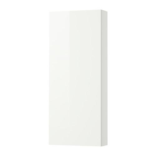 GODMORGON Wall cabinet with 1 door - high-gloss white