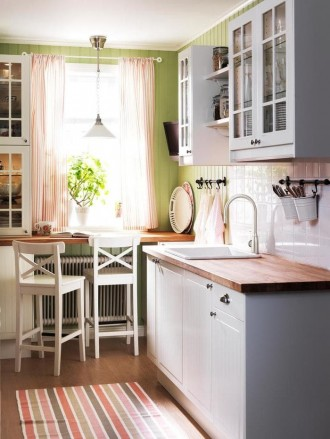 Dapur IKEA dalam gaya country