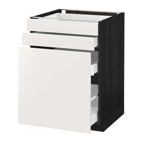 МЕТОД / МАКСИМЕРА Нплн шк с вдв мдл/2 фрнт - 60x60 см, Веддинге белый, под дерево черный