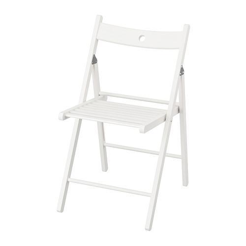 TERJE стул складной белый