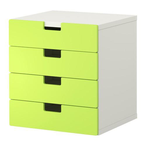 СТУВА Комбинация для хранения с ящиками - белый/зеленый