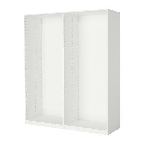 ПАКС 2 каркаса гардеробов - белый, 200x58x236 см