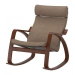 Poeng chaise berçante - Isunda brun, brun classique