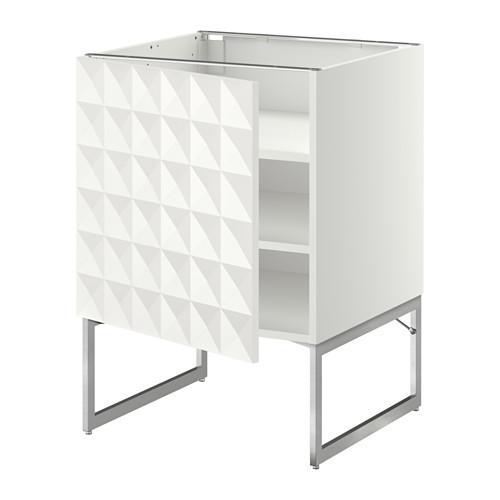 МЕТОД Напольный шкаф с полками - 60x60x60 см, Гэррестад белый, белый