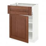 МЕТОД / МАКСИМЕРА Напольный шкаф с ящиком/дверью - 60x37 см, Филипстад коричневый, белый