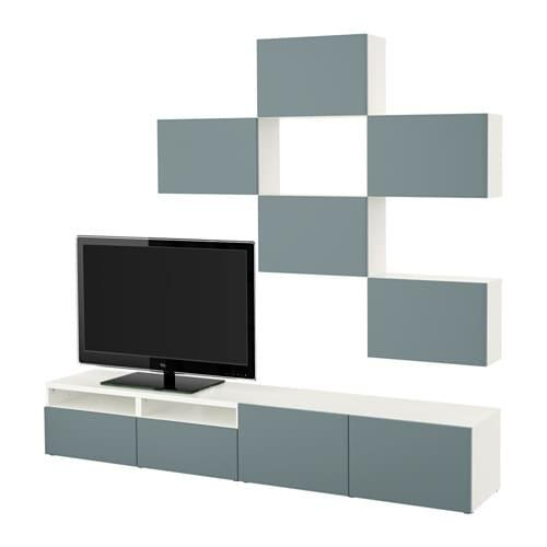 Ikea Tv Kast Grijs.Besto Tv Kast Combinatie Wit Valviken Grijs Turquoise