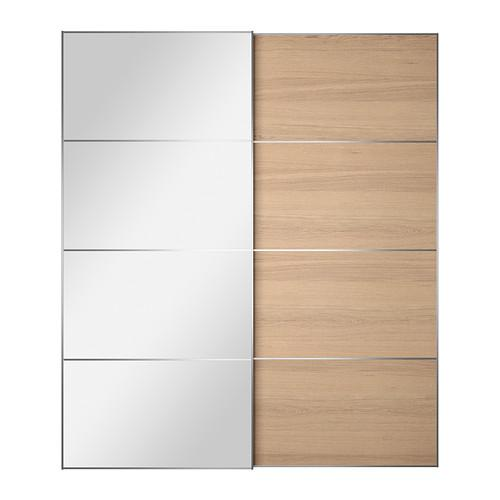 АУЛИ / ИЛЬСЕНГ Пара раздвижных дверей - 200x236 см, устройство д/плавн закрывания
