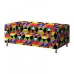 КЛИППАН Чехол дивана 2-местного - Рандвикен разноцветный