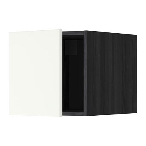 МЕТОД Верхний шкаф - Хэггеби белый, под дерево черный