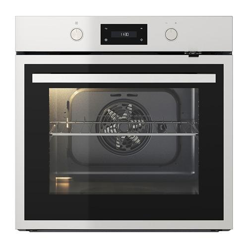 ANRÄTTA oven met hete lucht blazen en pyrol functie zwart