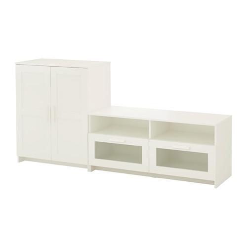 BRIMNES Wardrobe TV combination - white