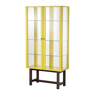 СТОКГОЛЬМ Шкаф со стеклянными дверями - желтый