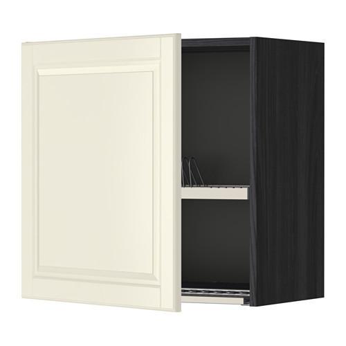 МЕТОД Шкаф навесной с сушкой - под дерево черный, Будбин белый с оттенком, 60x60 см