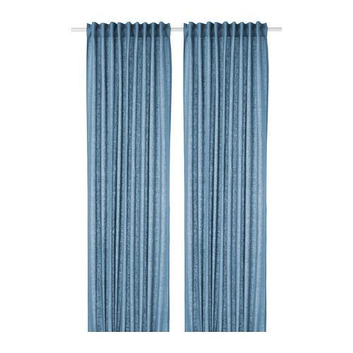 AINA curtains, 1 pair blue