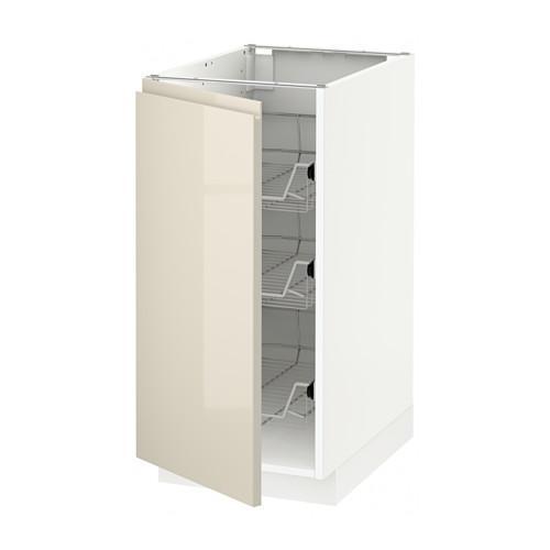 M thode meuble de sol avec tiroirs blanc vokstorp for Meuble 40x60