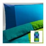 БРУНКРИСЛА Пододеяльник и 1 наволочка - синий, 150x200/50x70 см