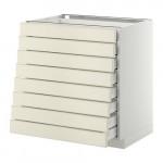 МЕТОД / МАКСИМЕРА Наполн шкаф 8 фронт/8 низк ящиков - белый, Будбин белый с оттенком, 80x60 см