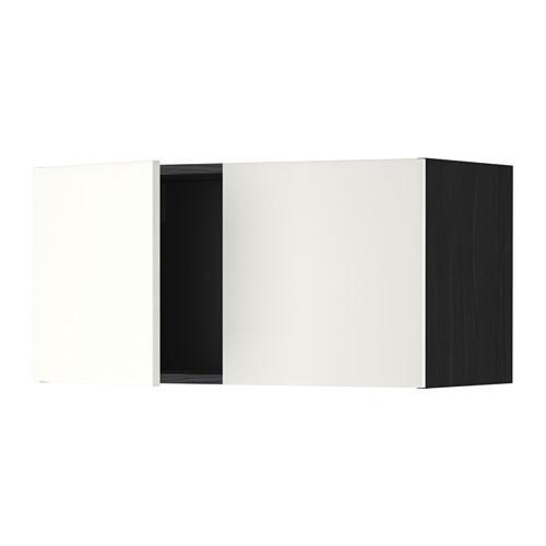 МЕТОД Навесной шкаф с 2 дверями - Хэггеби белый, под дерево черный