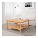 HEMNES журнальный стол светло-коричневый 90x90 см