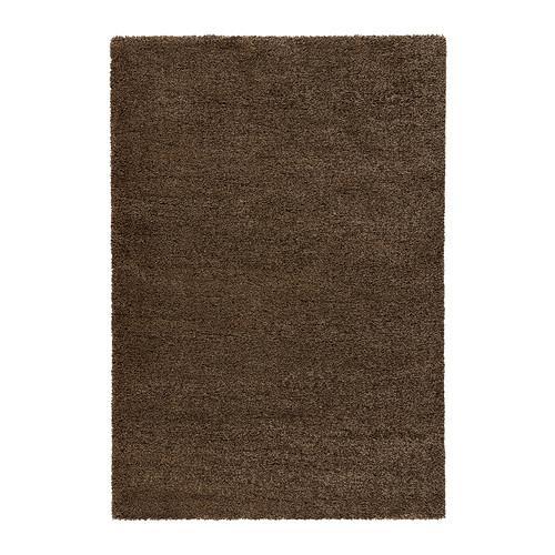 ÅDUM ковер, длинный ворс светло-коричневый