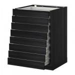 METHOD / FORVARA A filling cabinet front 8 / 8 low box - Tingsrid wood black, wood black