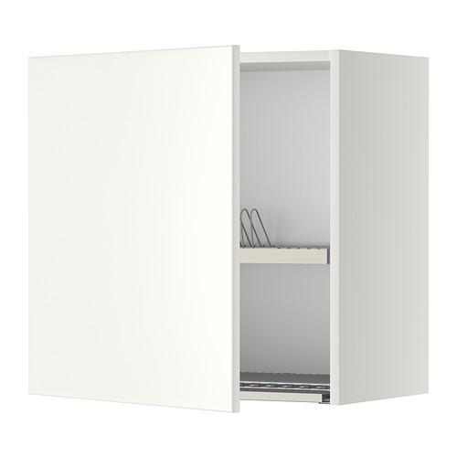 МЕТОД Шкаф навесной с сушкой - 60x60 см, Веддинге белый, белый