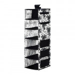 ГАРНИТУР Модуль для хранения/7 отделений - черный/белый цветок