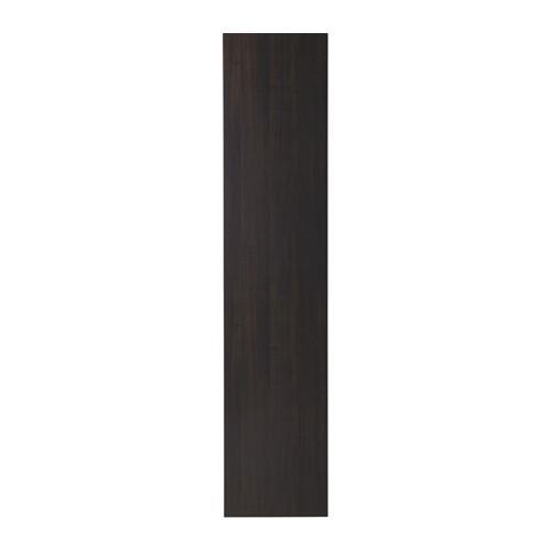 ВОЛЬДА Дверь - стандартные петли, черно-коричневый, 50x229 см