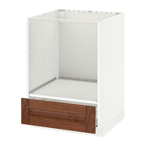 method maximer floor schrank mit backofen mit schublade wei philipstad braun. Black Bedroom Furniture Sets. Home Design Ideas