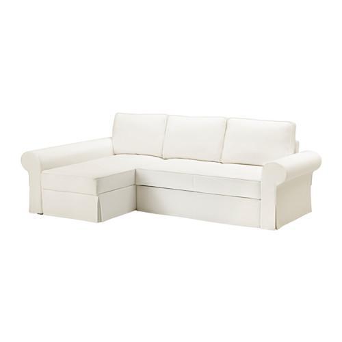 БАККАБРУ Диван-кровать с козеткой - Хильте белый, Хильте белый