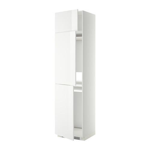 МЕТОД Выс шкаф для хол/мороз с 3 дверями - Рингульт глянцевый белый, белый