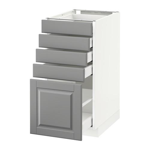 МЕТОД / МАКСИМЕРА Напольный шкаф с 5 ящиками - 40x60 см, Будбин серый, белый