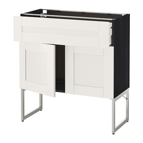 methode maximer f llung schrank regal schublade 2 t ren f r holz schwarz seveldal. Black Bedroom Furniture Sets. Home Design Ideas