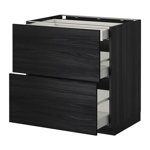 m thode maximer meuble de sol fa ade 2 tiroir 3 bois sous noir montre sous bois noir. Black Bedroom Furniture Sets. Home Design Ideas