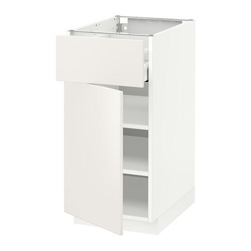 МЕТОД / МАКСИМЕРА Напольный шкаф с ящиком/дверью - 40x60 см, Веддинге белый, белый
