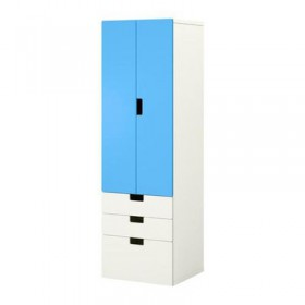 STUVA combo for storing a door / crate - White / Blue
