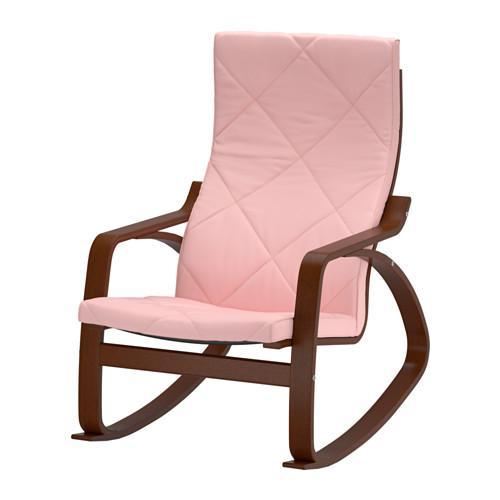 ПОЭНГ Кресло-качалка - Эдум розовый, классический коричневый