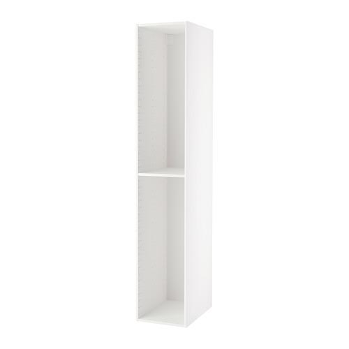 МЕТОД Каркас высокого шкафа - 40x60x220 см, белый
